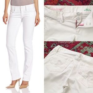 Lily Pulitzer 🌸 White Worth Straight Jeans sz 10